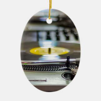 Ornamento De Cerâmica Vintage retro gravado plataforma giratória do som