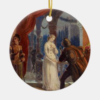 Ornamento De Cerâmica Vintage Romeo e pintura de Juliet (1861)