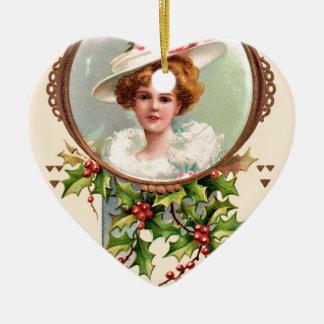 Ornamento De Cerâmica vintage-santa-christmas-post-cards-0019