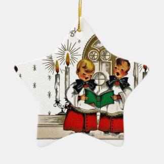 Ornamento De Cerâmica vintage-santa-christmas-post-cards-0029