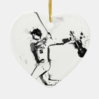 Ornamento De Cerâmica Violinista do basebol