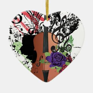 Ornamento De Cerâmica Violino Illustration2 do Grunge