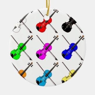 Ornamento De Cerâmica Violinos