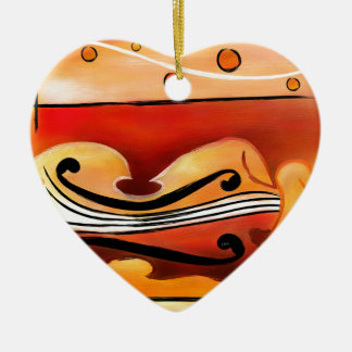 Ornamento De Cerâmica Vioselinna - beleza suportada violino