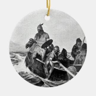 Ornamento De Cerâmica Viquingues que aterram em Islândia Ilustração
