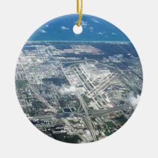 Ornamento De Cerâmica Vista aérea do aeroporto do Fort Lauderdale. (FLL)