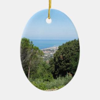Ornamento De Cerâmica Vista aérea panorâmico da cidade de Livorno