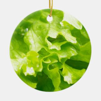 Ornamento De Cerâmica Vista macro das folhas da alface em uma salada
