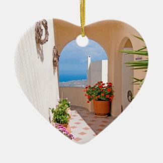 Ornamento De Cerâmica Vista na ilha de Santorini