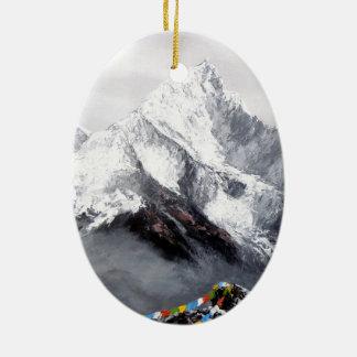 Ornamento De Cerâmica Vista panorâmica da montanha de Everest