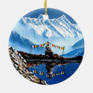 Ornamento De Cerâmica Vista panorâmica da montanha Nepal de Annapurna