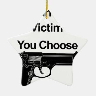 Ornamento De Cerâmica vítima que do proprietário de arma você escolhe