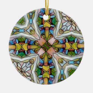 Ornamento De Cerâmica Vitral cruciforme bonito inspirado