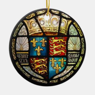 Ornamento De Cerâmica Vitral real de Henry VIII da brasão de Tudor