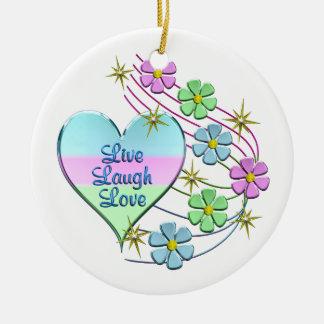 Ornamento De Cerâmica Vive o amor do riso
