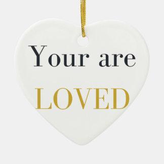Ornamento De Cerâmica Você é amado