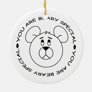 Ornamento De Cerâmica Você é ímã especial do urso dos desenhos animados