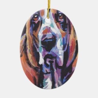 Ornamento De Cerâmica Você é meu coração de Basset Hound