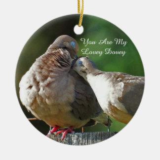 Ornamento De Cerâmica Você é meu Dovey que bonito eu Coo somente para