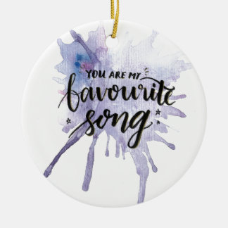 Ornamento De Cerâmica Você é minha canção favorita