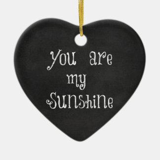 Ornamento De Cerâmica Você é minha luz do sol