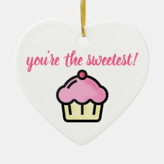 Ornamento De Cerâmica Você é o mais doce! Dia dos namorados cor-de-rosa