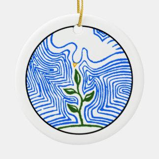 """Ornamento De Cerâmica """"Você envia seu espírito e renova a terra """""""