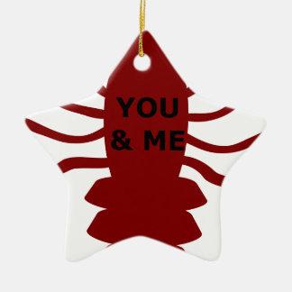Ornamento De Cerâmica Você & eu são lagostas