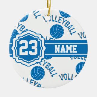 Ornamento De Cerâmica Voleibol azul