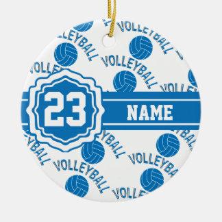 Ornamento De Cerâmica Voleibol azul e branco