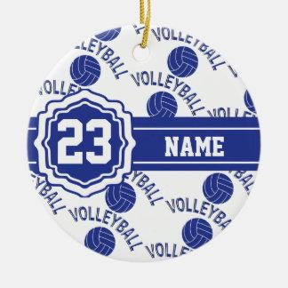 Ornamento De Cerâmica Voleibol azul escuro