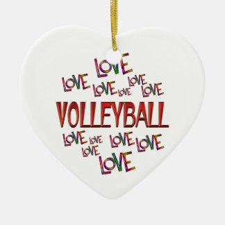 Ornamento De Cerâmica Voleibol do amor do amor