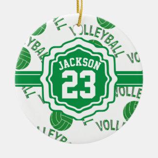 Ornamento De Cerâmica Voleibol verde