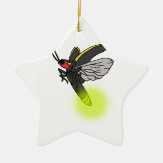 Ornamento De Cerâmica vôo 2 do inseto de relâmpago iluminado