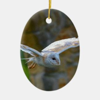Ornamento De Cerâmica Vôo da coruja de celeiro