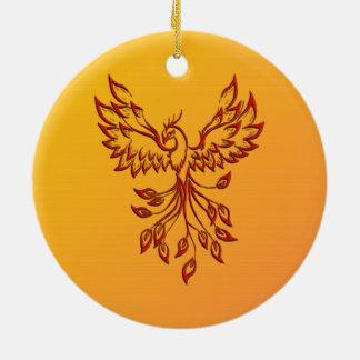 Ornamento De Cerâmica Vôo de um Phoenix