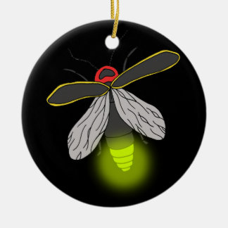 Ornamento De Cerâmica vôo do inseto de relâmpago iluminado