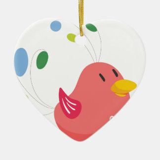 Ornamento De Cerâmica vôo pequeno bonito do pássaro e canto
