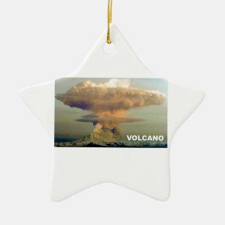 Ornamento De Cerâmica Vulcão distante