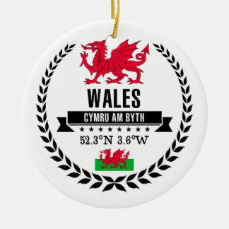Ornamento De Cerâmica Wales