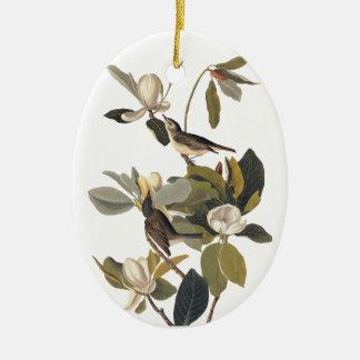 Ornamento De Cerâmica Warbling o vintage Audubon art. dos Kingbirds do