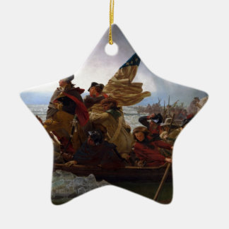 Ornamento De Cerâmica Washington que cruza arte do vintage do Delaware -