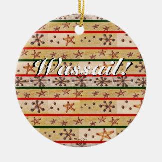 Ornamento De Cerâmica Wassail deseja que os feriados de inverno de Yule