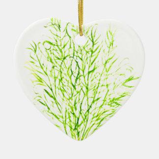 Ornamento De Cerâmica Watercolour do aneto das ervas do aneto