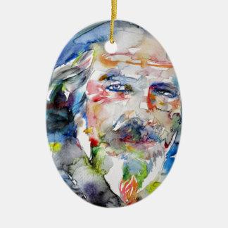Ornamento De Cerâmica watts de alan - aguarela portrait.3
