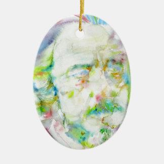Ornamento De Cerâmica watts de alan - retrato da aguarela
