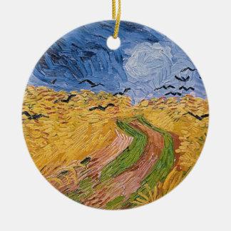 Ornamento De Cerâmica Wheatfield com corvos, 1890 de Vincent van Gogh |