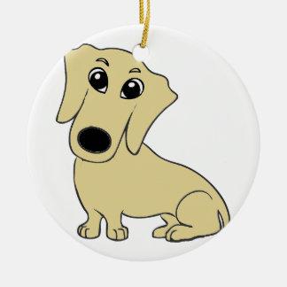 Ornamento De Cerâmica wheaton dos desenhos animados do dachshund