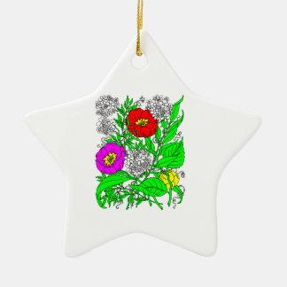 Ornamento De Cerâmica Wildflowers 2