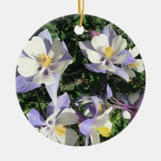 Ornamento De Cerâmica Wildflowers aquilégias